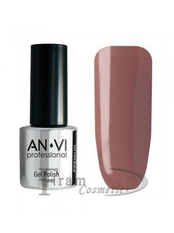 """Гель лак ANVI №057 """"розово-серо-коричневый"""""""