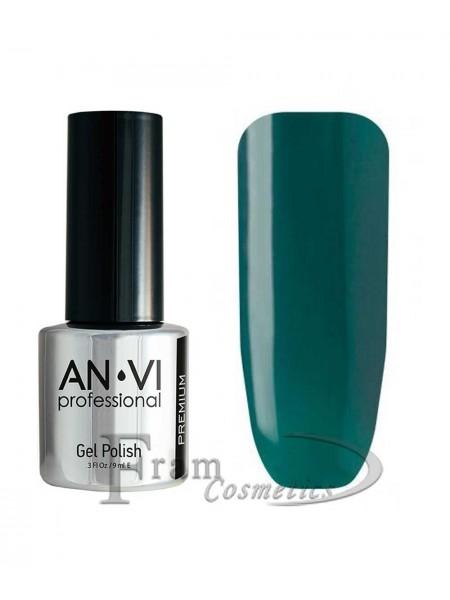 """Гель лак ANVI №069 """"темный зеленовато-синий"""""""