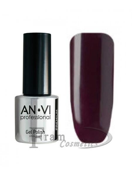 """Гель лак ANVI №082 """"очень темный красно-пурпурный"""""""