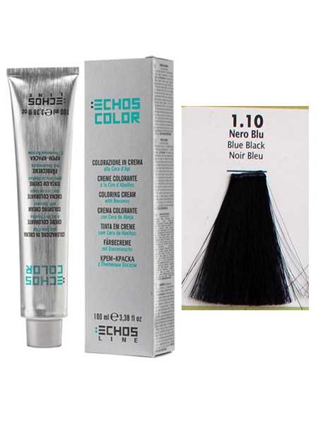 """1/10 Краска для волос Echos Color """"сине-черный"""""""
