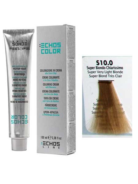 """10/0 Краска для волос Echos Color """"суперсветлый блондин"""""""