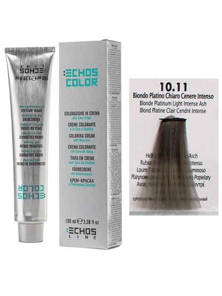 """10/11 Краска для волос Echos Color """"Платиновый светлый блонд"""""""