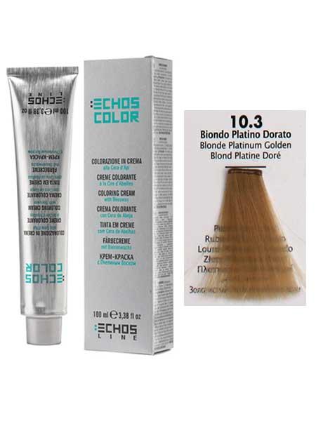 """10/3 Краска для волос Echos Color """"супер светлый золотистый блондин"""""""