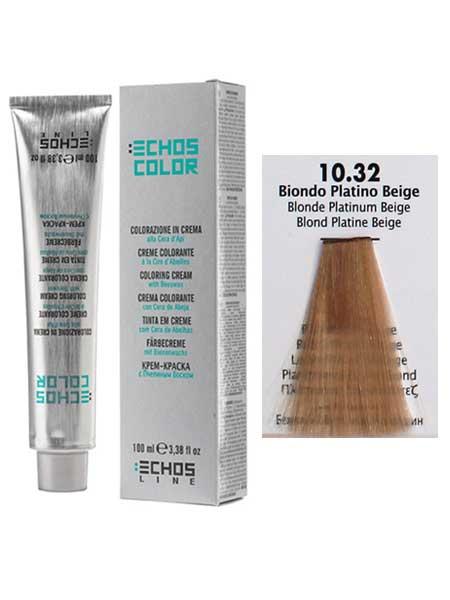 10/32 Краска для волос Echos Color бежевый платиновый блондин)