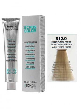 12/0 Краска для волос Echosline Echos Color супер платиновый нейтральный