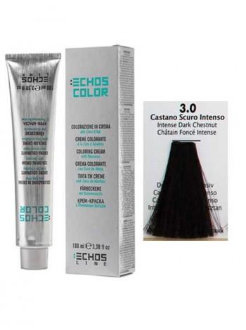 """3/0 Краска для волос Echos Color """"интенсивный темно-каштановый"""""""