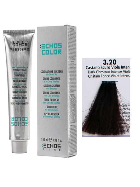 """3/20 Краска для волос Echos Color """"темно-каштановый насыщенный"""""""