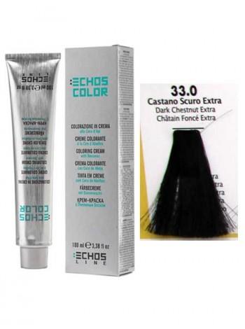 """33/0 Краска для волос Echos Color """"каштановый экстра-натуральный"""""""