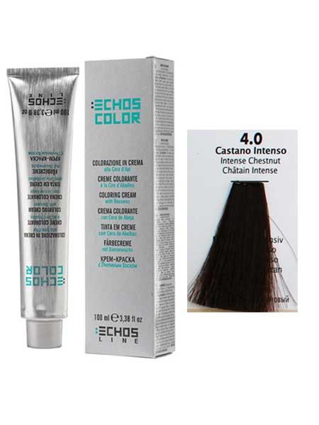 """4/0 Краска для волос Echos Color """"интенсивный каштановый"""""""