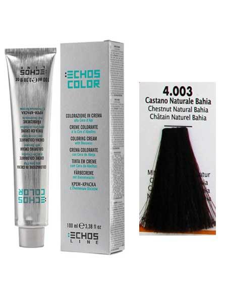 4/003 Краска для волос Echos Color натуральный каштановый байя