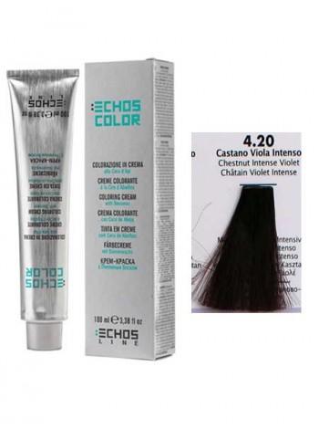"""4/20 Краска для волос Echos Color """"интенсивный каштаново-фиолетовый"""""""