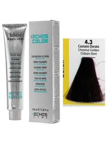 """4/3 Краска для волос Echos Color """"золотисто-каштановый"""""""
