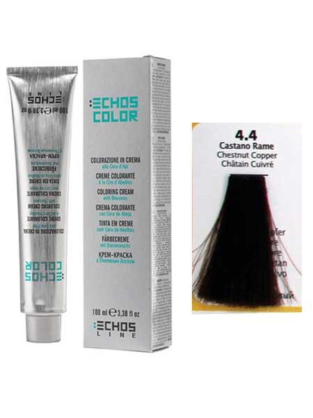 """4/4 Краска для волос Echos Color """"медно-каштановый"""""""