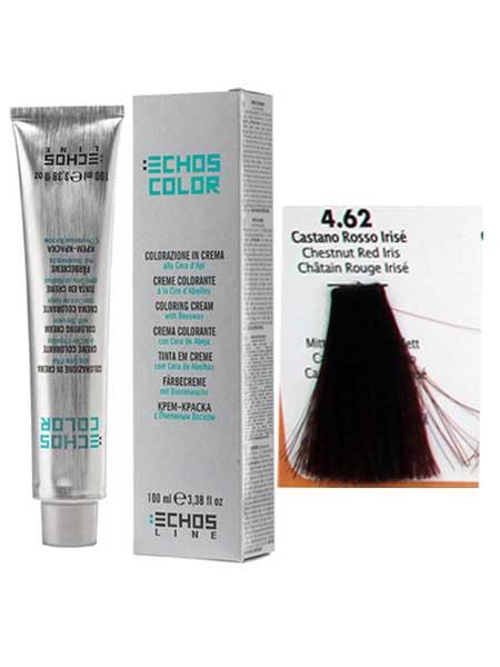 """4/62 Краска для волос Echos Color """"рыжий каштановый искрящийся"""""""
