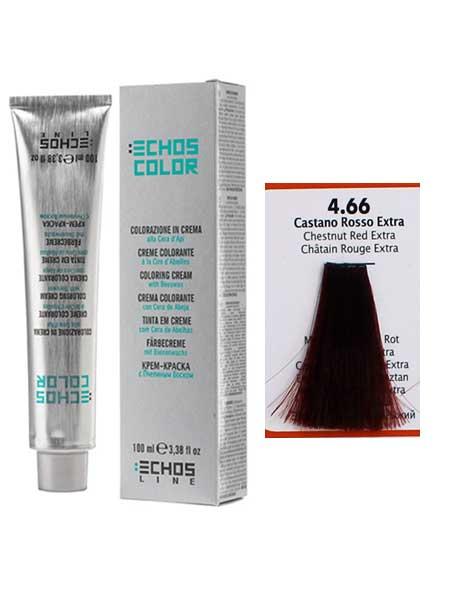 """4/66 Краска для волос Echos Color """"экстра каштановый медный"""""""
