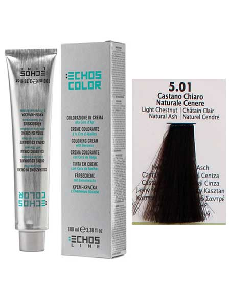 5/01 Краска для волос Echosline Echos Color пепельный светло-каштановый
