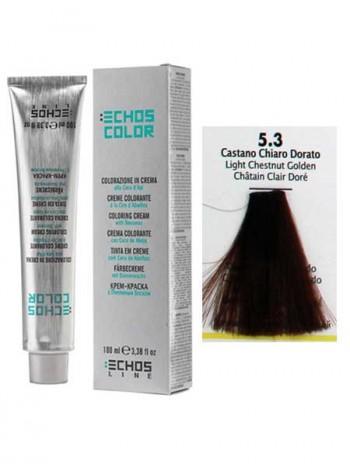 """5/3 Краска для волос Echos Color """"золотистый светло-каштановый"""""""