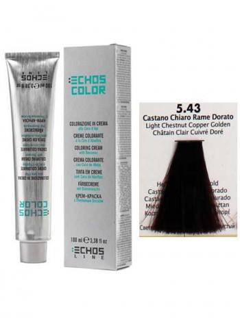 """5/43 Краска для волос Echos Color """"каштановый медно-золотистый"""""""