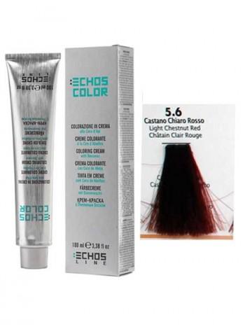 """5/6 Краска для волос Echos Color """"каштановый огненно-красный"""""""