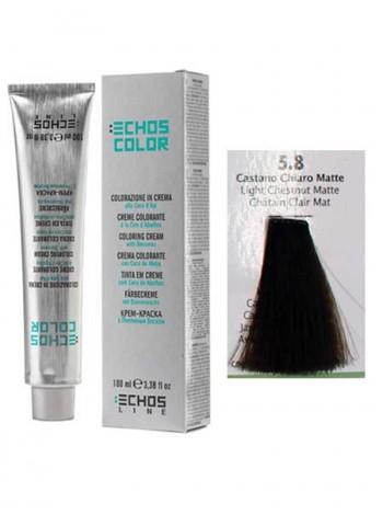 """5/8 Краска для волос Echos Color """"светлый матовый каштан"""""""
