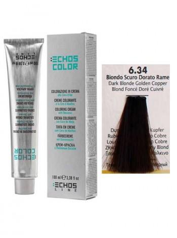 """6/34 Краска для волос Echos Color """"русый золотистый медный"""""""