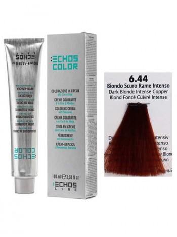 """6/44 Краска для волос Echos Color """"русый насыщенный медный"""""""