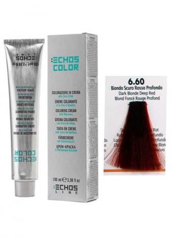 """6/60 Краска для волос Echos Color """"темно-русый красный"""""""