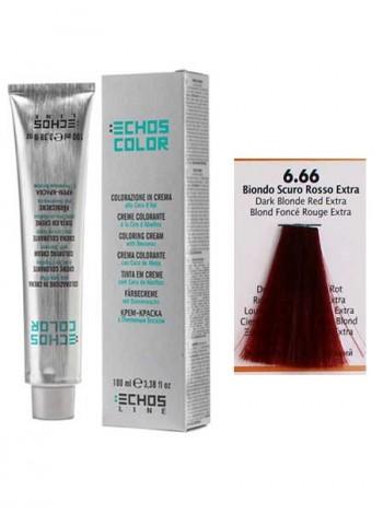 """6/66 Краска для волос Echos Color """"экстра темно-русый медный"""""""
