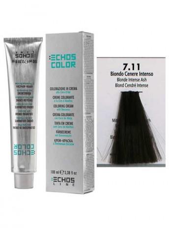 """7/11 Краска для волос Echos Color """"насыщенный пепельный блонд"""""""