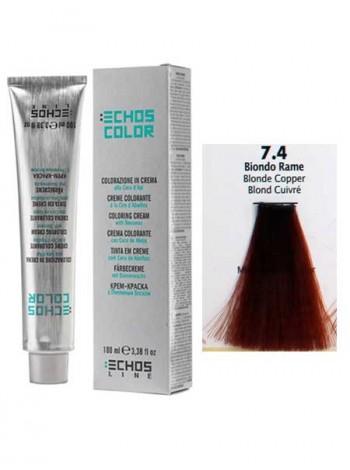 """7/4 Краска для волос Echos Color """"медный блондин"""""""