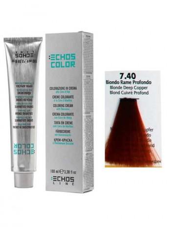 """7/40 Краска для волос Echos Color """"насыщенный медный блондин"""""""