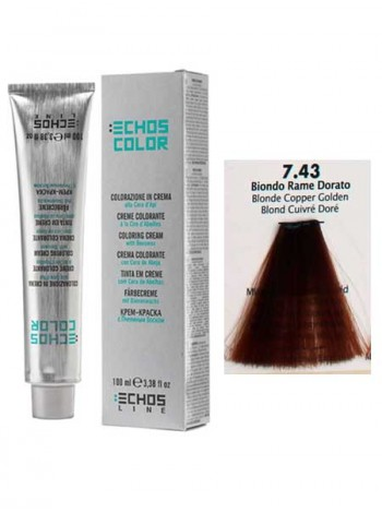 """7/43 Краска для волос Echos Color """"медный золотистый блондин"""""""