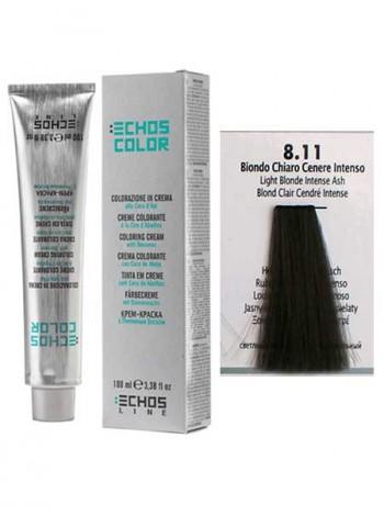"""8/11 Краска для волос Echos Color """"блонд насыщенно-пепельный"""""""