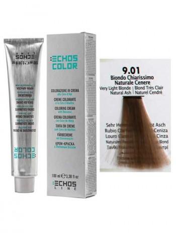 9/01 Краска для волос Echosline Echos Color пепельный светлый блондин