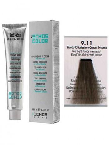 """9/11 Краска для волос Echos Color """"очень светлый блонд пепельный"""""""