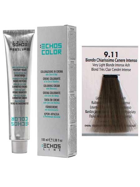 """1/0 Краска для волос Echos Color """"очень светлый блонд пепельный"""""""