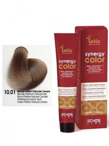 Крем-краска Echosline Synergy Color без аммиака 10/01 пепельный платиновый блондин