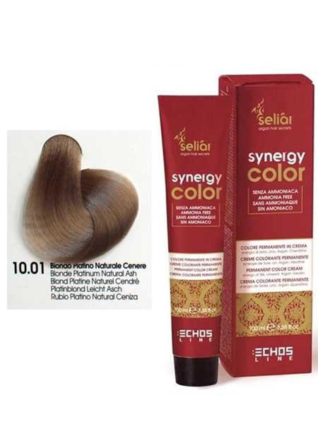 """10/01 Краска для волос Echosline SYNERGY """"пепельный платиновый блондин"""""""