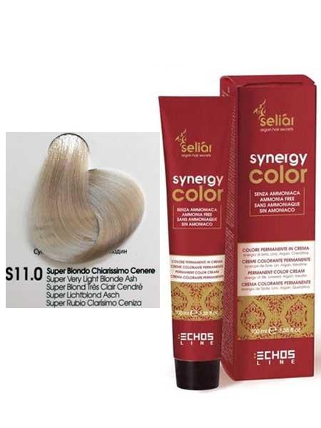"""11/0 Краска для волос Echosline SYNERGY """"cупер светлый блондин экстра"""""""