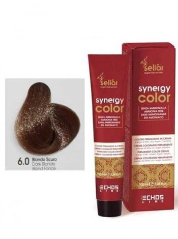 Крем-краска Echosline Synergy Color без аммиака 6/0 темно-русый
