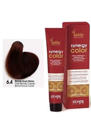 Крем-краска Echosline Synergy Color без аммиака 6/4 медный темно-русый