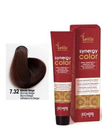 Крем-краска Echosline Synergy Color без аммиака 7/32 бежевый блондин