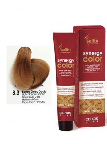 Крем-краска Echosline Synergy Color без аммиака 8/3 золотистый светлый блондин