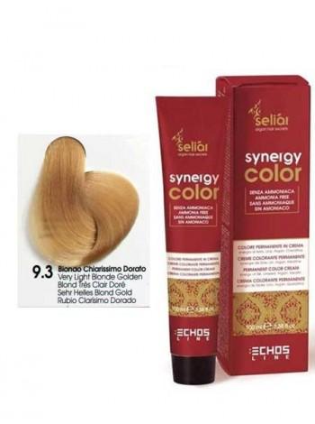 Крем-краска Echosline Synergy Color без аммиака 9/3 золотистый светлый блондин