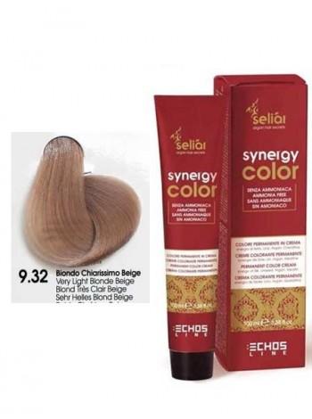 Крем-краска Echosline Synergy Color без аммиака 9/32 бежевый светлый блондин