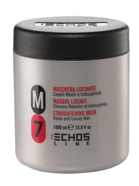 Echosline M7 разглаживающая маска для непослушных волос 1000ml