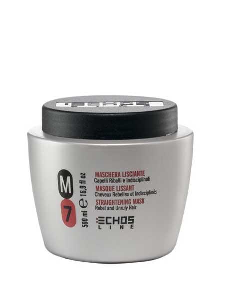 Echosline M7 разглаживающая маска для непослушных волос 500ml