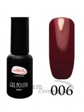 Гель-лак EdLen 006 Очень темный красный