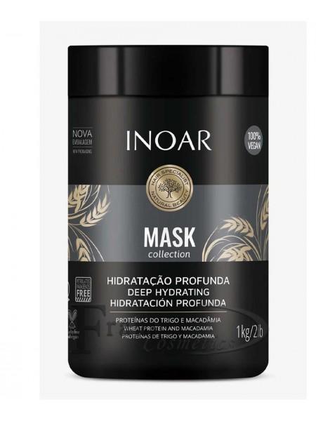 Безсульфатная маска для волос макадамия Inoar