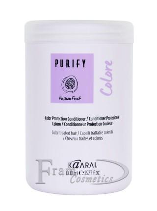 Кондиционер-крем защита цвета Kaaral Purify Colore с экстрактом маракуйи